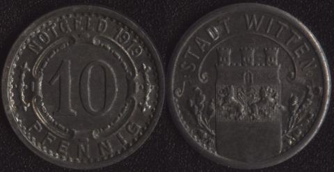 Виттен 10 пфеннигов 1919