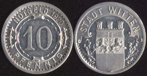 Виттен 10 пфеннигов 1920