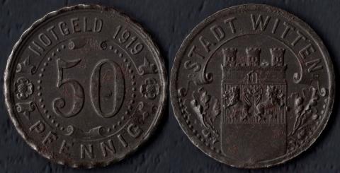 Виттен 50 пфеннигов 1919