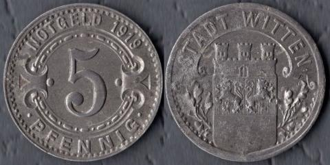 Виттен 5 пфеннигов 1919