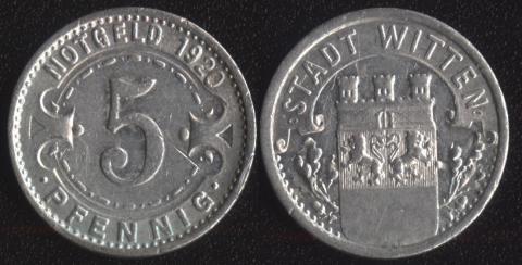 Виттен 5 пфеннигов 1920