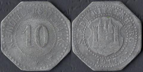 Виттенберг 10 пфеннигов 1917