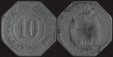 Виттенберге 10 пфеннигов 1917