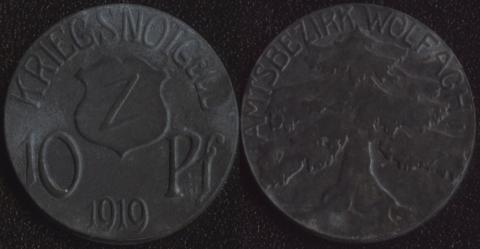 Вольфах 10 пфеннигов 1919