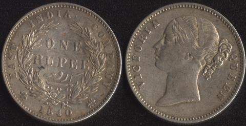 Восточно-Индская компания 1 рупия 1840