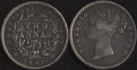 Восточно-Индская компания 2 анны 1841