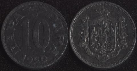 Югославия 10 пара 1920