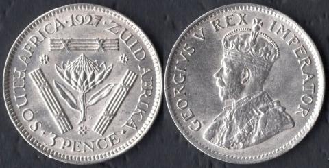 Южная Африка 3 пенса 1927