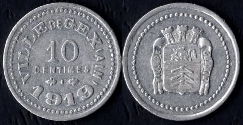 Жекс 10 сантим 1919