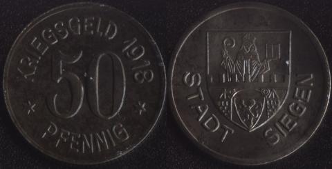 Зиген 50 пфеннигов 1918